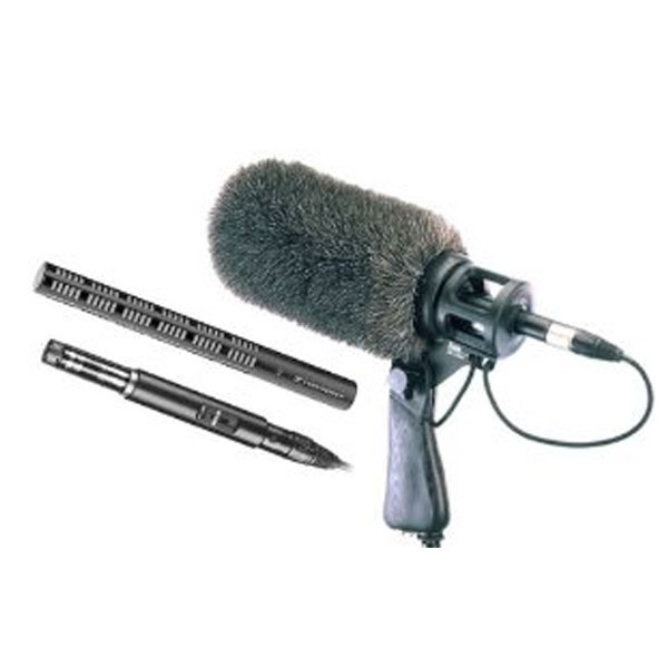 Sennheiser K6 module with ME66 directional & ME64 cardioid microphone & dead squirrel